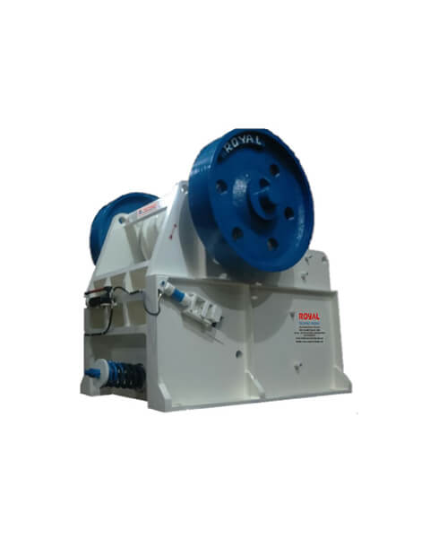 Single toggle grease type jaw crusher